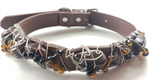 Red Tiger Eye Healing Dog Collar