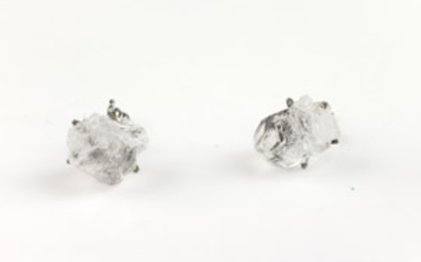 Apophyllite Crystal Stud earrings
