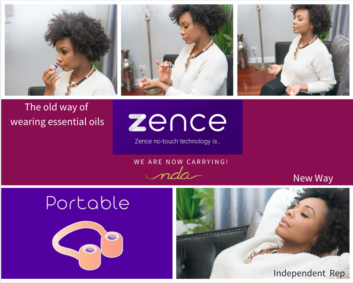 Zence wearable technology of essential oils.