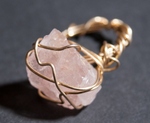 Rose Quartz galaxy ring, one of a kind crystal jewelry