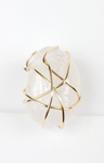 Clear quartz crystal lapel~ one of a kind crystal jewelry