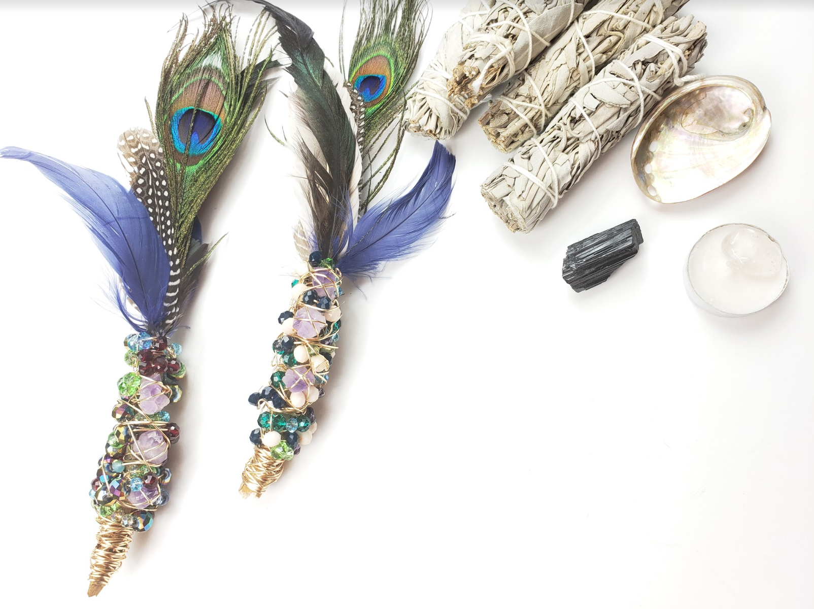 Smudge Feather Wand Sage Kit