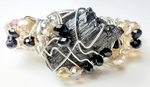 Raw Black Tourmaline Bracelet, one of a kind crystal jewelry