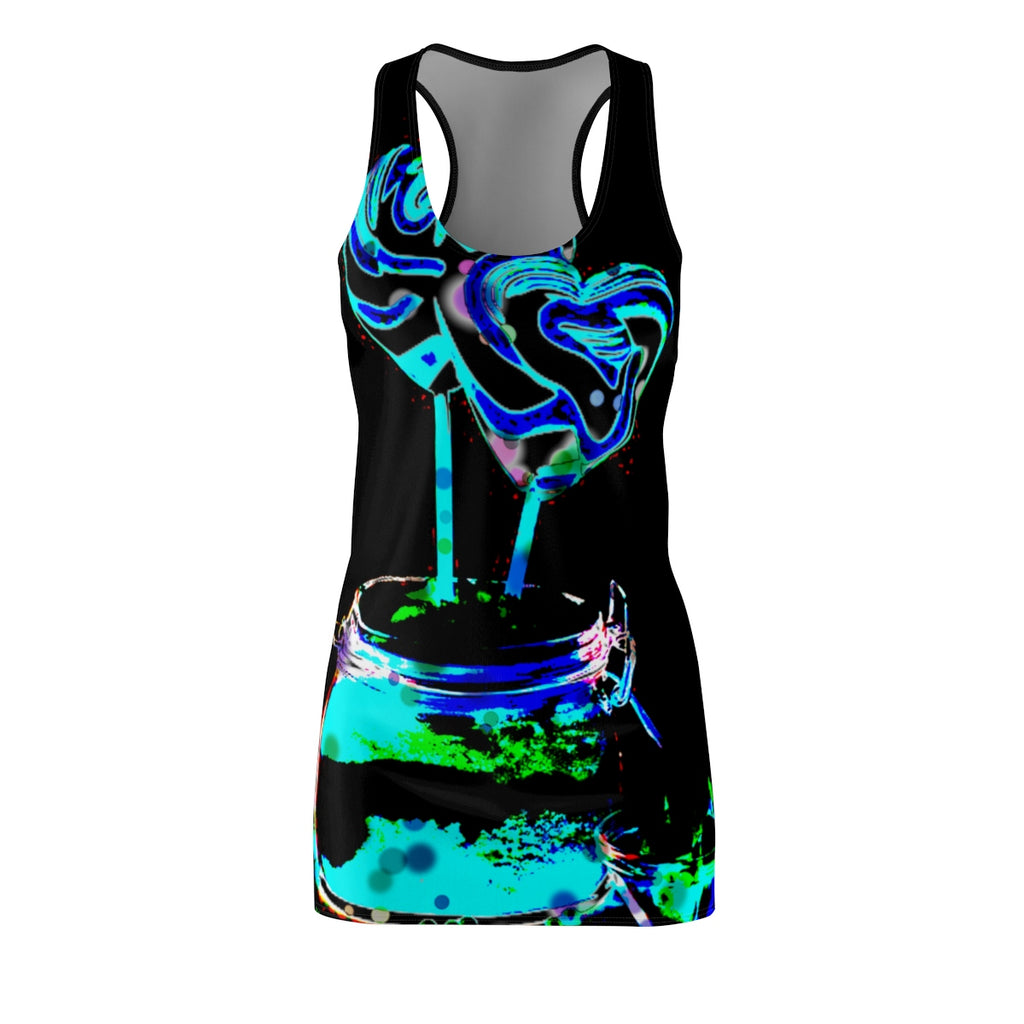 LOLLI GANG Women's Racerback Dress (black)