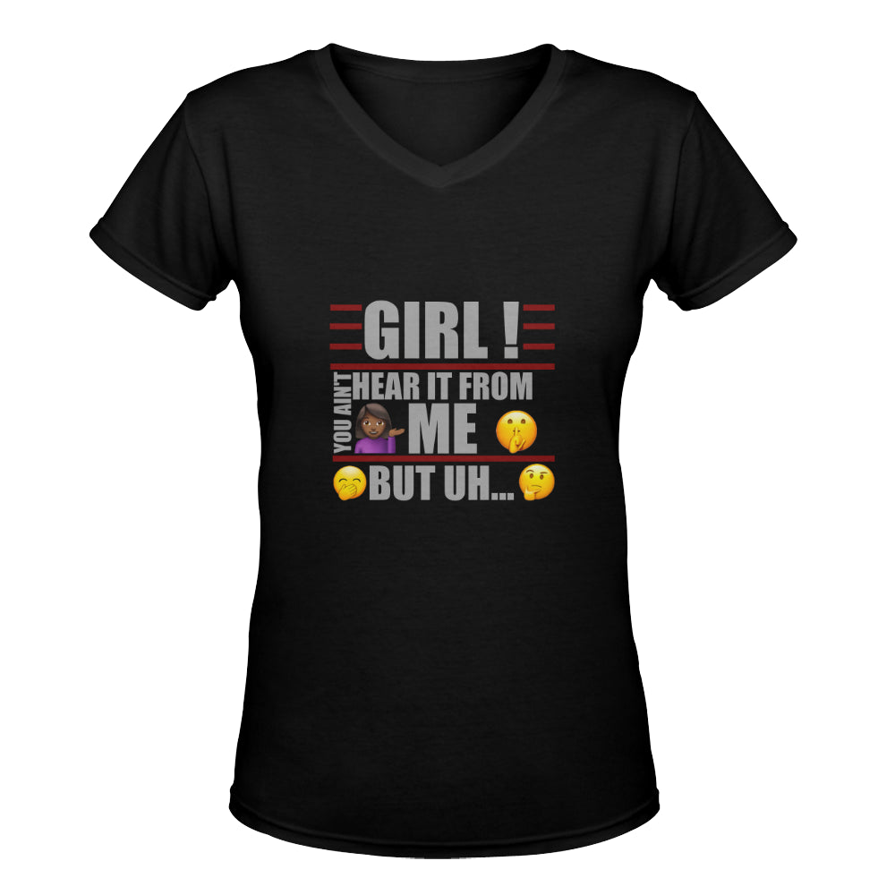 LOLLI GANG 'Gossip Girl' V-neck Tee (black)