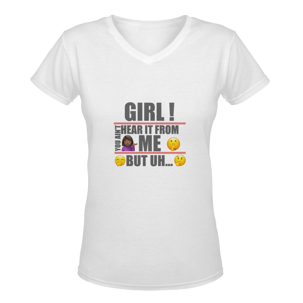 LOLLI GANG 'Gossip Girl' V-neck Tee (white)