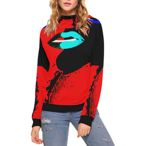 Lolli Gang Turtleneck Hoodie_Kiss Collection (black/red)