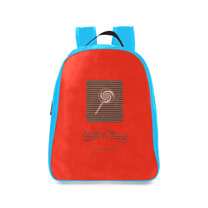 Lolli Gang Logo Trendy Backpack_Stripe Collection (blue/red)