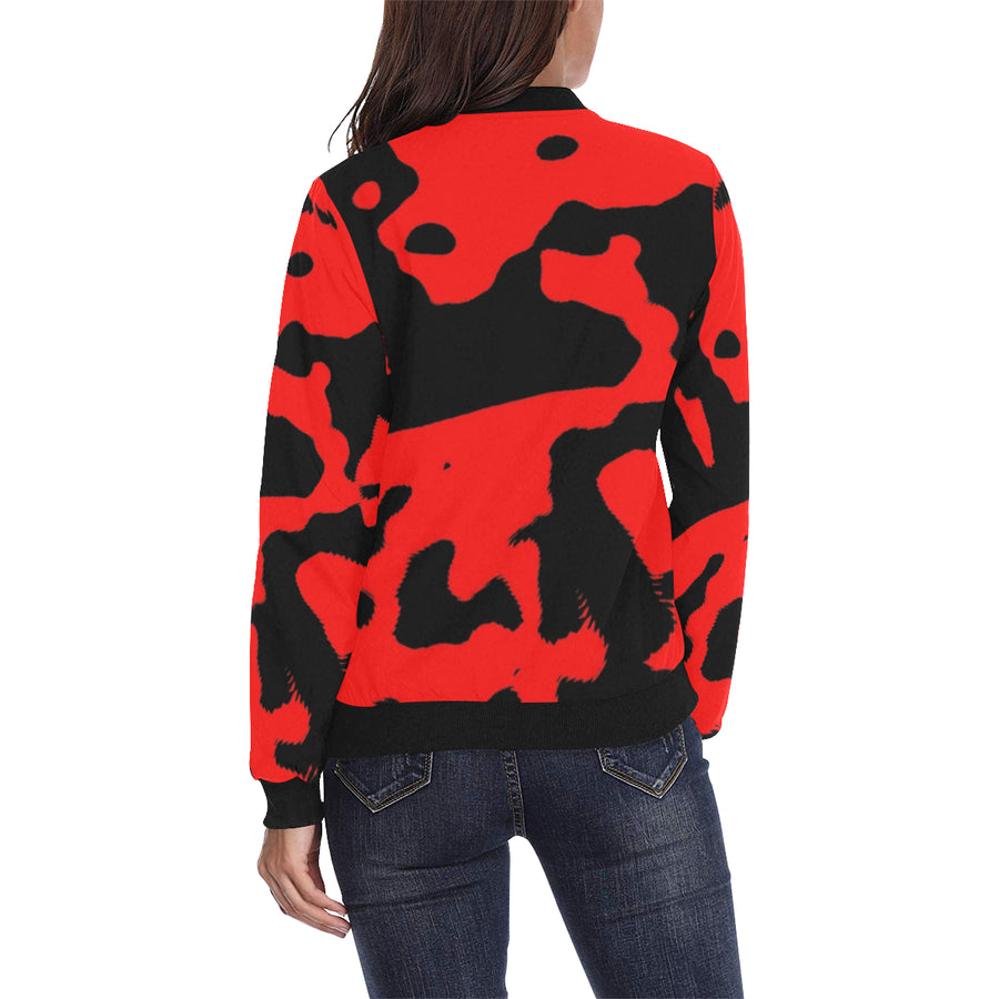 LOLLI GANG Camouflage bomber jacket_red/black