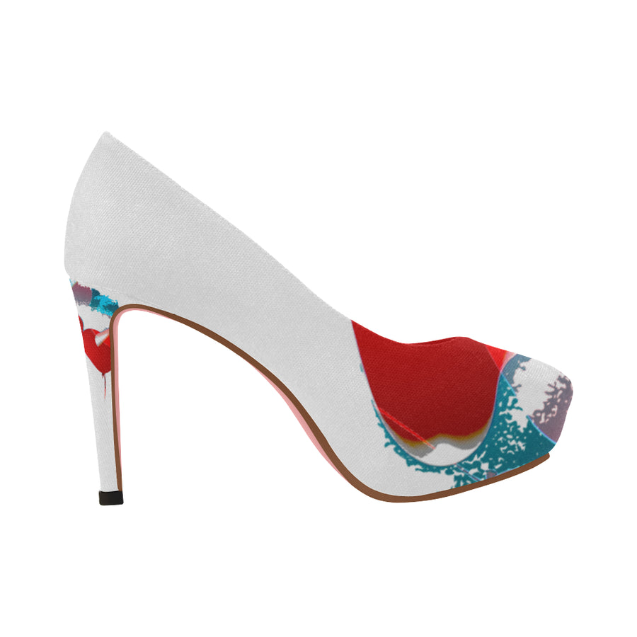 LOLLI GANG High Heel Pumps_Heart Collection (white)