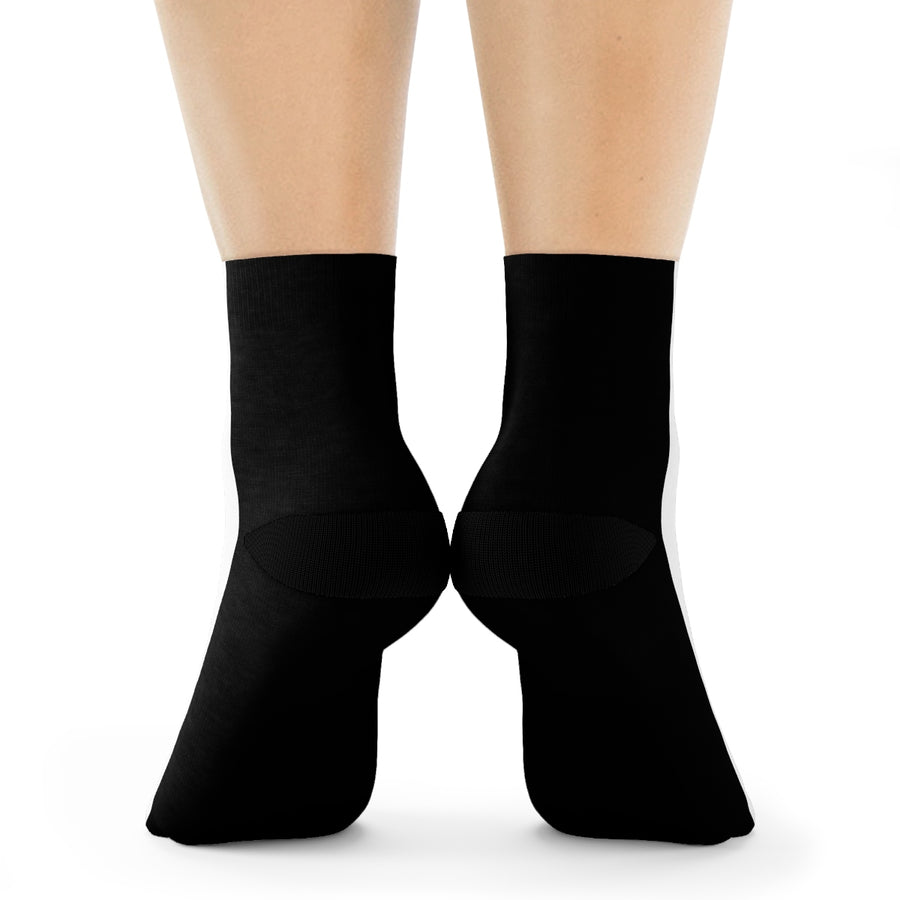 LOLLI GANG Logo Crew Socks (black/white)