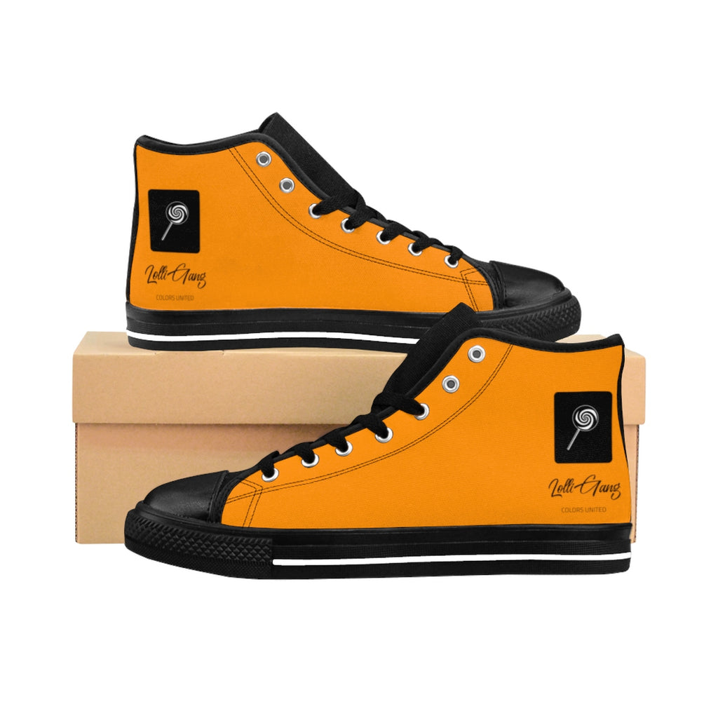 LOLLI GANG Logo Women's High-top Sneakers (orange)