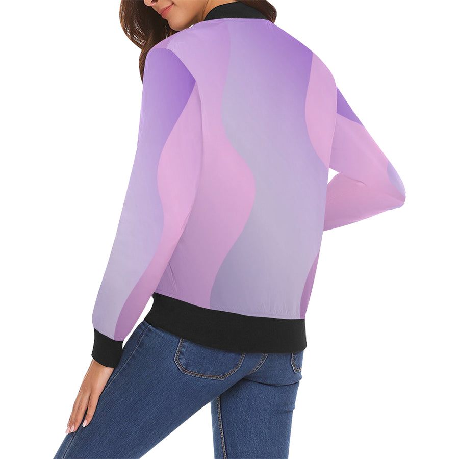 LOLLI GANG Spring Jacket_Abstract Collection (purple)