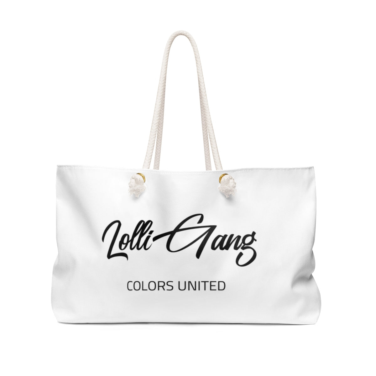 Lolli Gang Weekender Bag (Tori) white