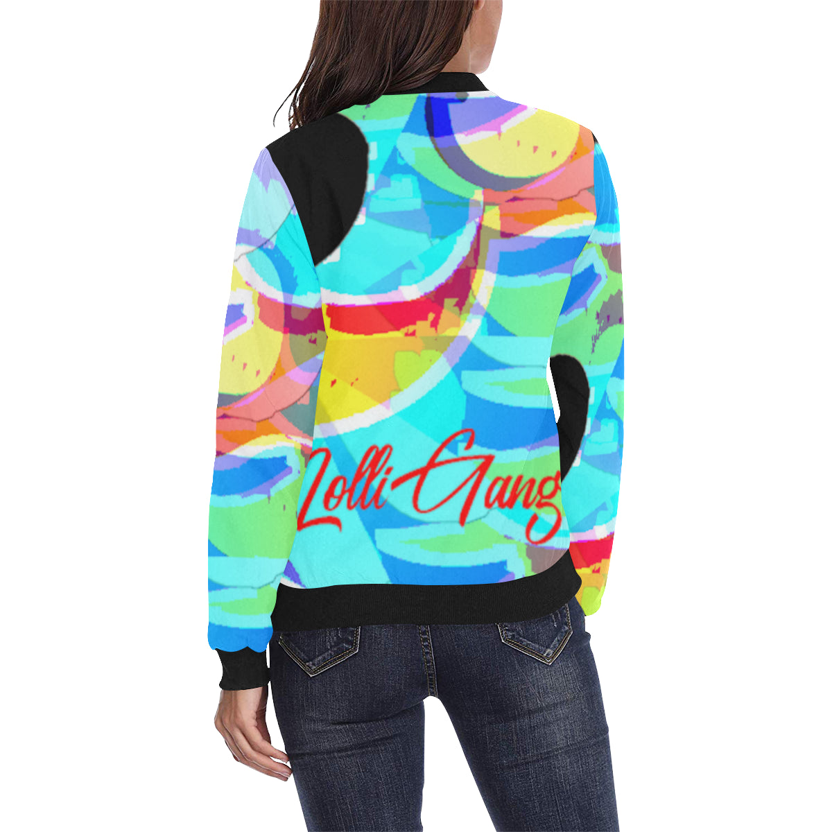 LOLLI GANG Abstract Collection bomber jacket