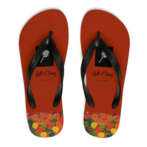 LOLLI GANG Thong Flip-Flops (brick red)