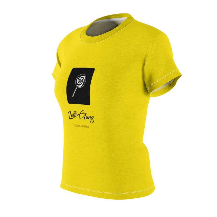 LOLLI GANG Logo Women's Crewneck Tee (yellow)