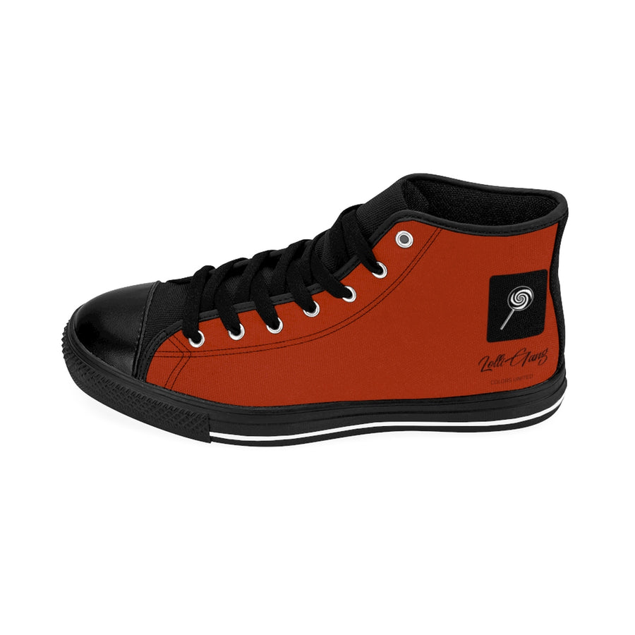 LOLLI GANG Logo Women's High-top Sneakers (brick red)