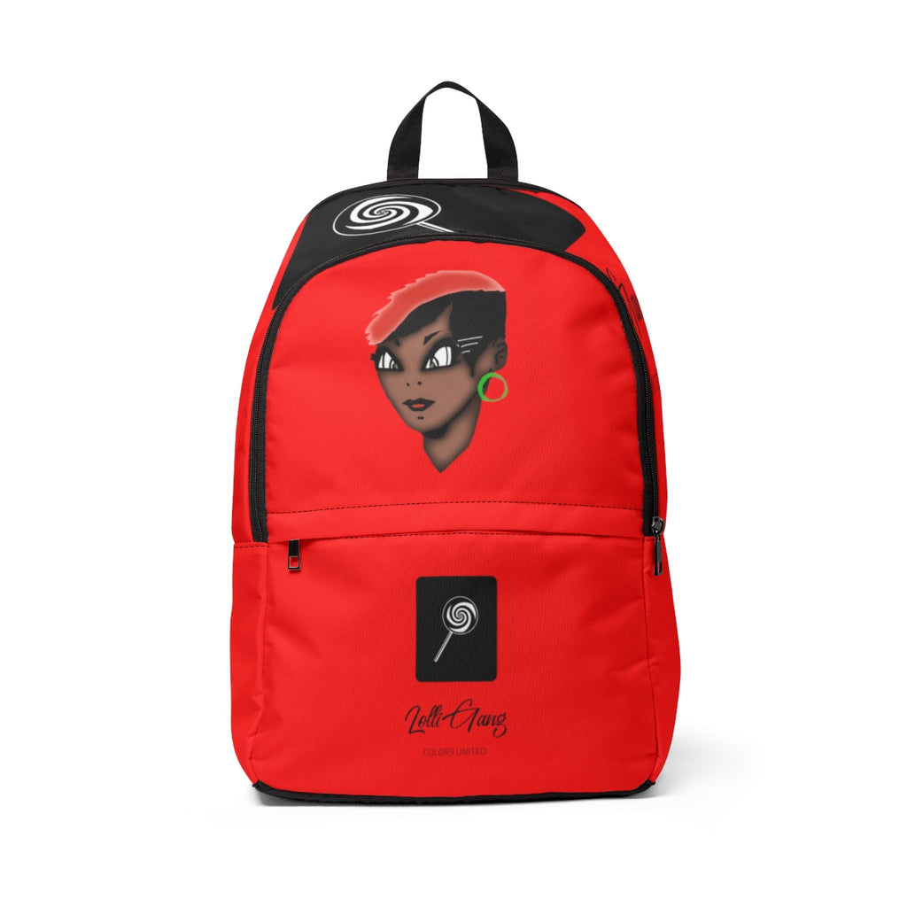Lolli GANG Unisex Backpack (Tori) red