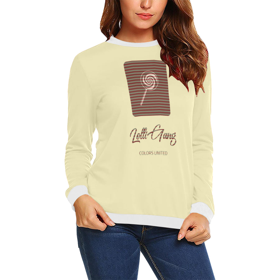 LOLLI GANG Sweater_Stripe Collection (cream/brown)