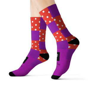 LOLLI GANG Socks (red polka dot/purple)