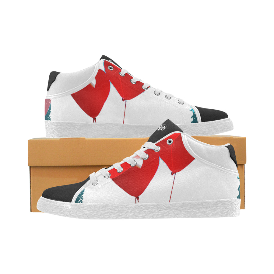 LOLLI GANG Chukka Canvas Sneakers_Heart Collection (red)