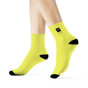 LOLLI GANG Logo Crew Socks (yellow)