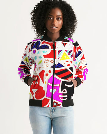 LOLLI GANG Abstract Collection Women's Bomber Jacket