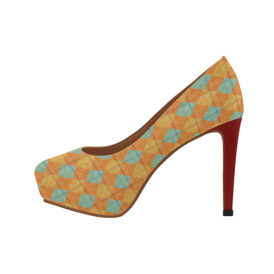 Lolli Gang Yellow Diamonds Hi Heels