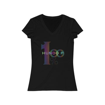 LOLLI GANG Women's Jersey Short Sleeve V-Neck Tee