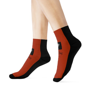 LOLLI GANG Logo Crew Socks (brick red)