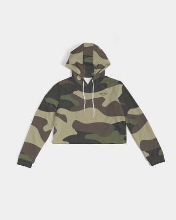 Lolli Gang Camouflage Women's Cropped Hoodie