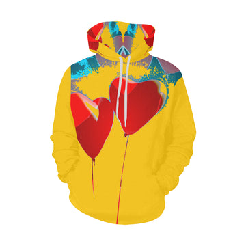 LOLLI GANG Hoodie_ Heart Collection (yellow)