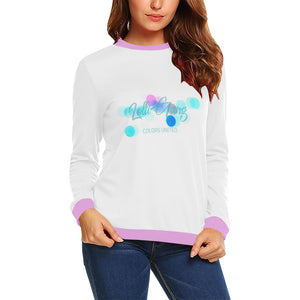 LOLLI GANG Casual Long Sleeve Crewneck Sweater (white)