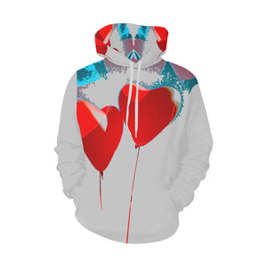 LOLLI GANG Hoodie_ Heart Collection (gray)