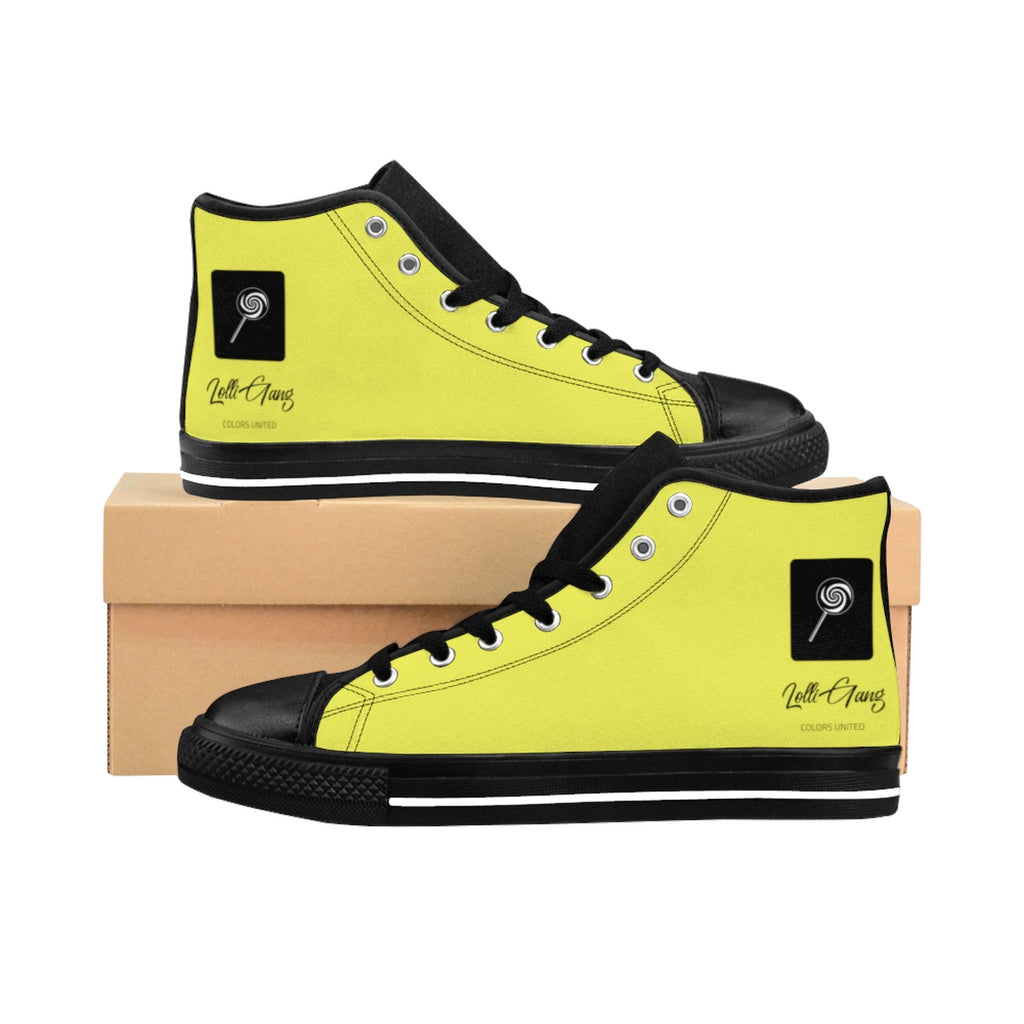 LOLLI GANG Logo Women's High-top Sneakers (yellow)