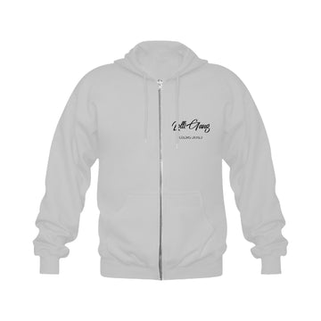 LOLLI GANG GIRLZ zip-up hoodie_gray