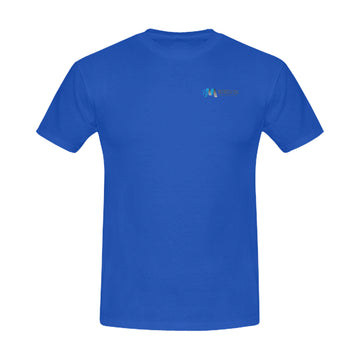 Mens BitCoin Club blue tee