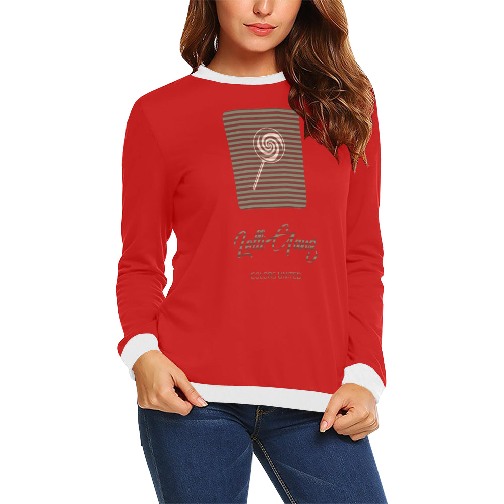 LOLLI GANG Sweater_Stripe Collection (red)