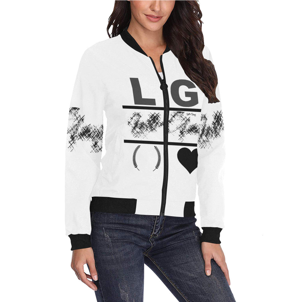 LOLLI GANG Women's bomber jacket_white