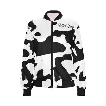 LOLLI GANG Camouflage bomber jacket_b/w