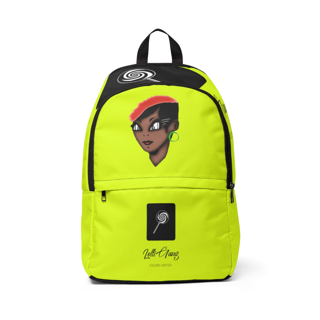 Lolli GANG Unisex Backpack (Tori) yellow