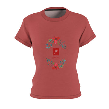 LOLLI GANG Women's Print Crewneck Tee (rust)