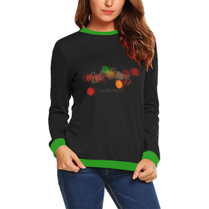 LOLLI GANG Casual Long Sleeve Crewneck Sweater (black)