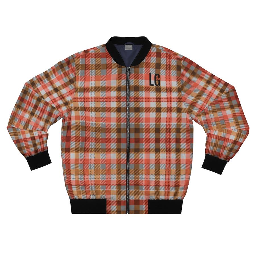 Lolli Gang Men's Plaid Bomber Jacket
