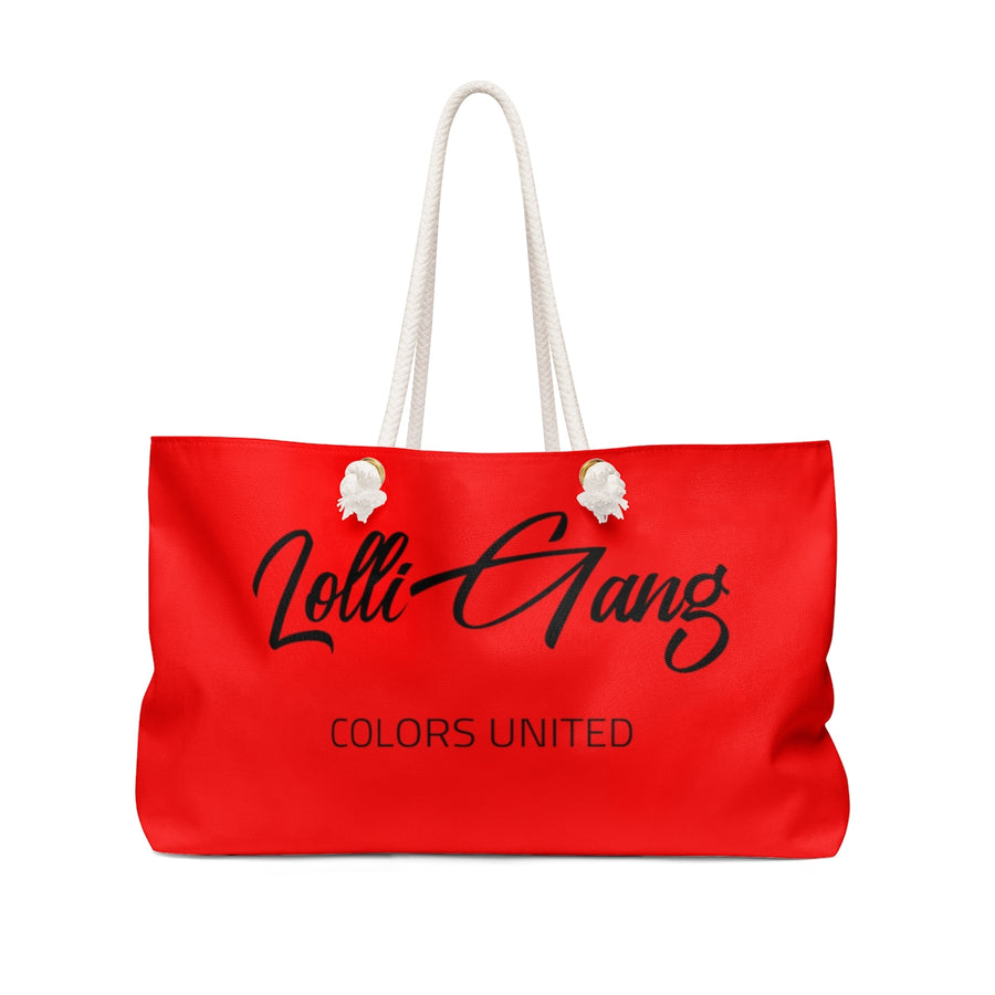 Lolli Gang Weekender Bag (Tori) red