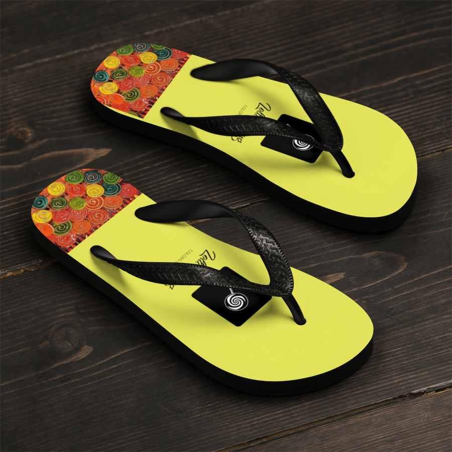LOLLI GANG Thong Flip-Flops (yellow)