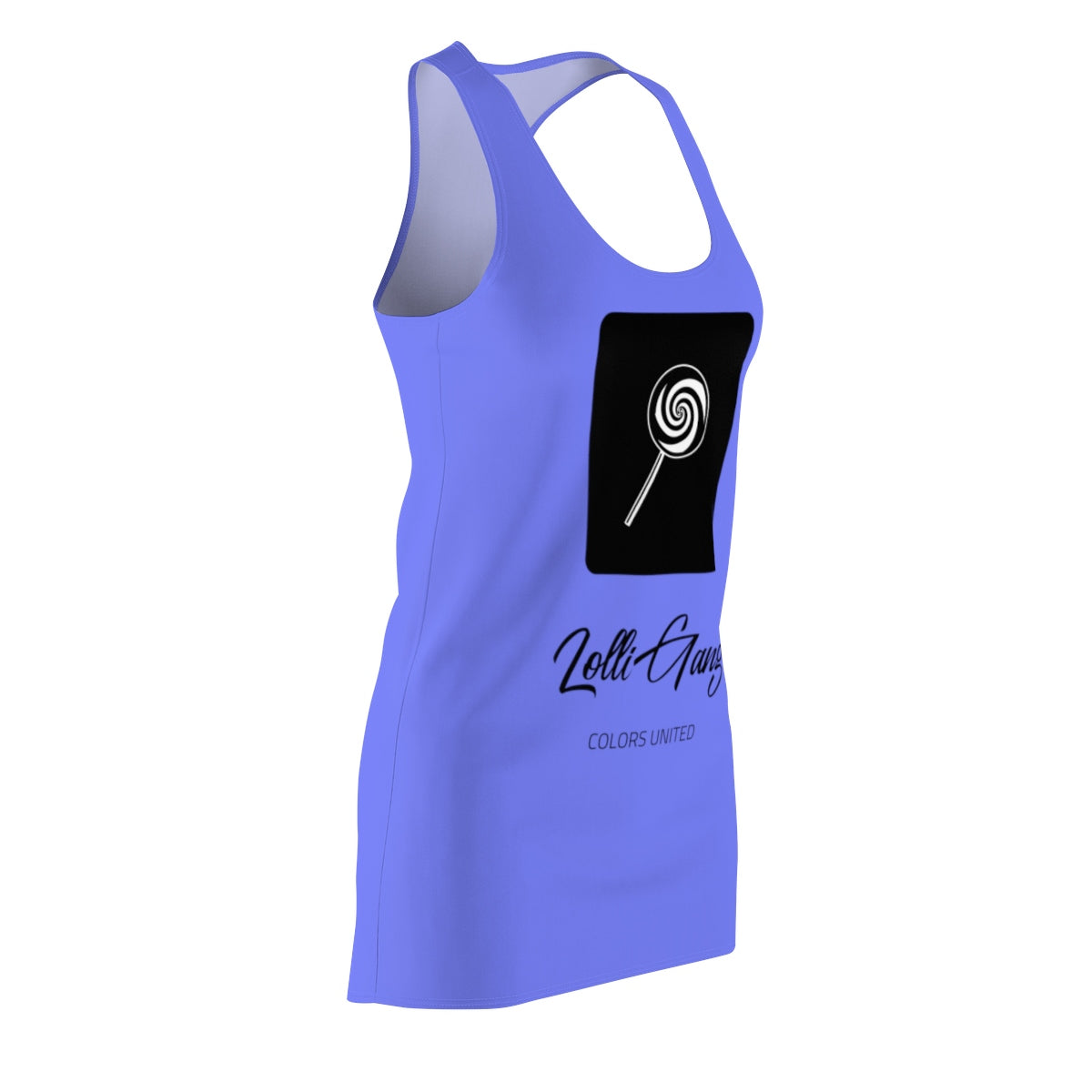 LOLLI GANG Logo Women's Racerback Dress (blue)