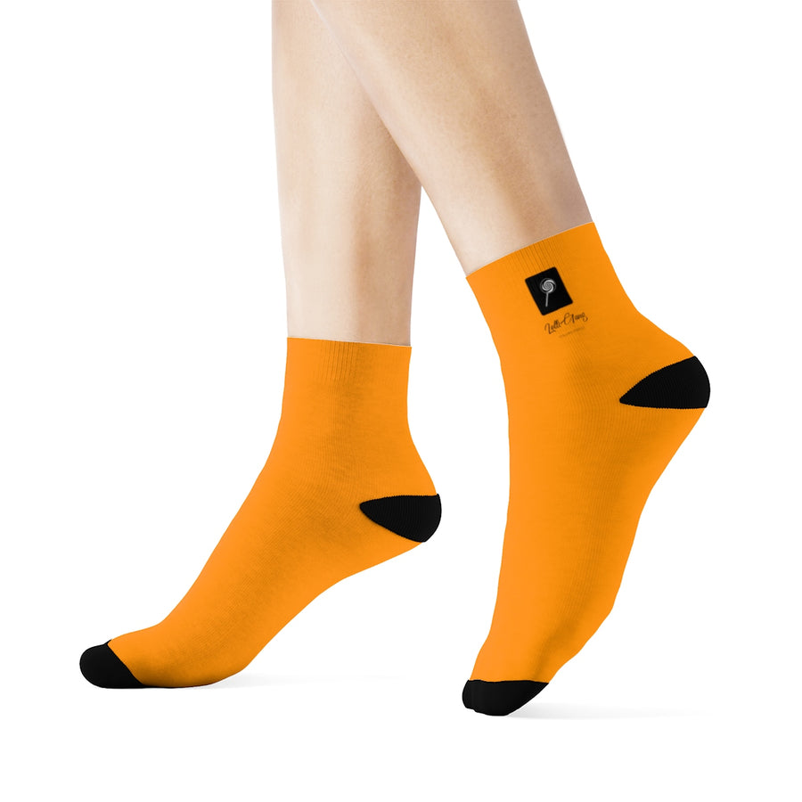 LOLLI GANG Logo 3/4 Crew Socks (orange)