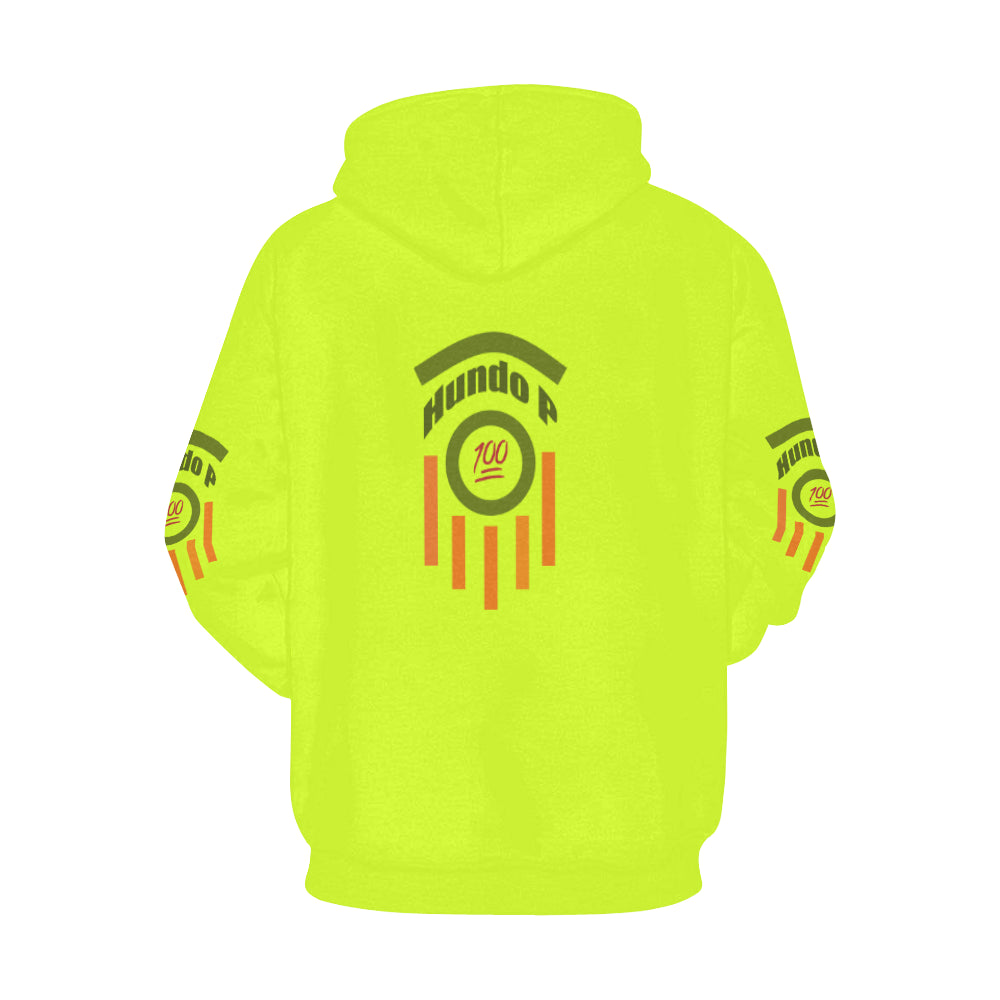 LOLLI GANG HUNNDO P Collection hoodie_neon yellow